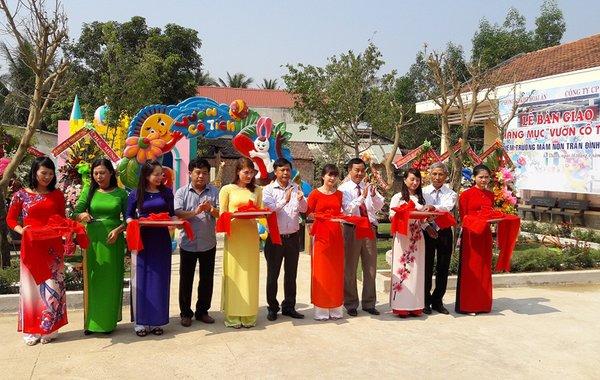 Khánh thành khu vui chơi vườn cổ tích của trường mầm non Trần Đình Châu tại thôn An Thường 2 xã Ân Thạnh – Hoài Ân – Bình Định.