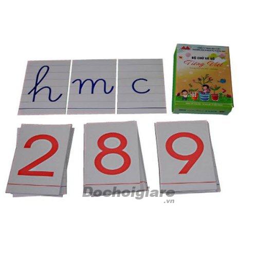 Bộ chữ cái và số